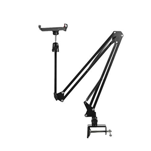 Yeeyuan Ständer Tablet Halter Schwanenhals Handyhalterung Schwenkarm Desktop Ständer für Tablet lang arm Tablet Halterung kompatibel (Stil#6, Höhe:50-130cm)