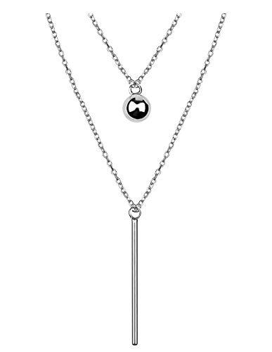 SOFIA MILANI - Damen Halskette mit Stab Kugel Anhänger - Aus echtem 925 Sterling Silber - 50238