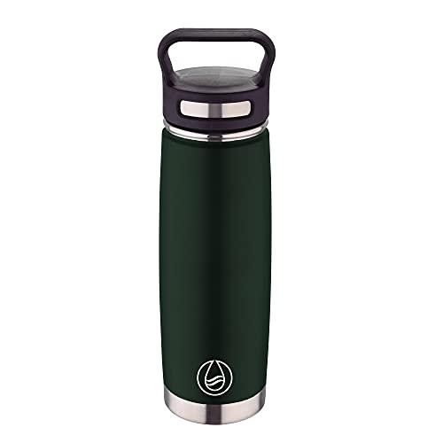 Bergner Botella termo 500ml acero inoxidable verde Walking anywhere