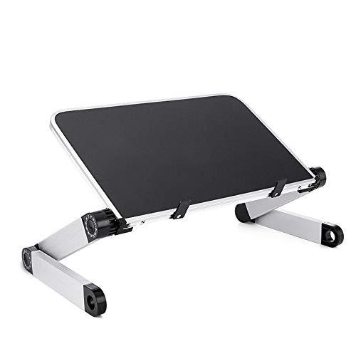 KULTIVERI Mesa de Ordenador Portátil con Base Ajustable y Plegable para Cama o Sofá, de Aluminio. Ergonómico para la Oficina. Compacto y Ligero.