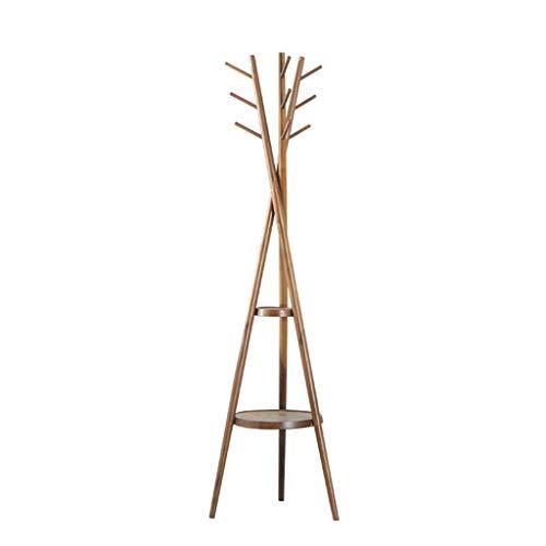 FEANG Perchero de Pie Solid Wood Coat Rack Vertical Poot Hanger Sala de Estar Dormitorio Bolsa de Interior Rack Hogar Suelo Ropa Ropa Perchero para Abrigos