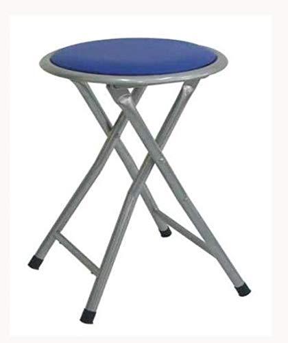 Lemon azul Taburete plegable metal asiento skai,para cocina, baño, balcón, habitación juvenil, 1 unidad