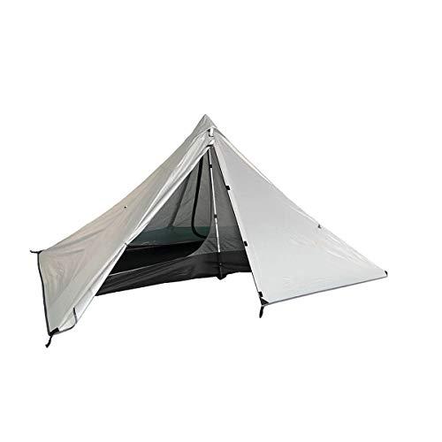 Tentock 3 Saisons Tente Pyramidale Extérieure 1 Personne Imperméable Ultra-Léger Tente de Camping pour Voyager Trekking Alpinisme(Gris)