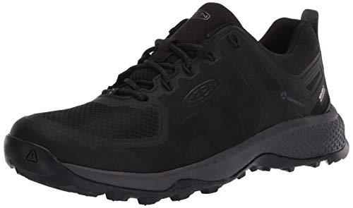 KEEN Explore Low Height Waterproof, Chaussure de randonnée Homme, Black Magnet, 48 EU