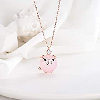 Initial Necklace - 2019 Creative Fashion Pig Pendant Necklace, Chain Girl Gift