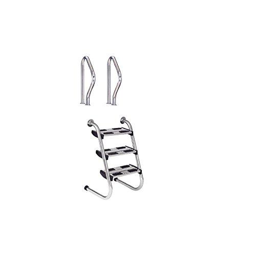 Flexinox Escalera Modelo Partida Fácil Acceso con peldaños Dobles AISI 316-87161021 - 3 Peldaños