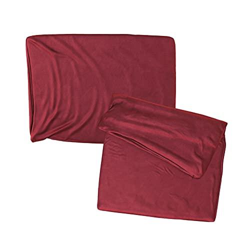 Cojines Sofa 35x50 Color Burdeos Pack de 2 Fundas de cojin Decorativos para Sofa , Cama , Salon / Funda de Terciopelo Elegantes y Modernas para la decoración del hogar sin Relleno