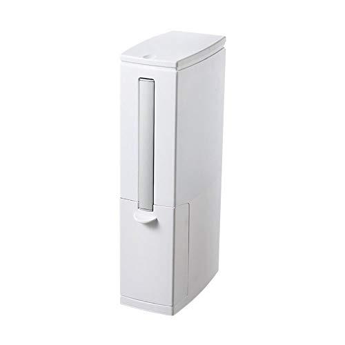 LOKIH Huishoudelijke smalle vierkante push-in plastic vuilnisbak, veer type vuilnisbak, gebruikt voor badkamer keuken slaapkamer kantoor split vuilnisbak