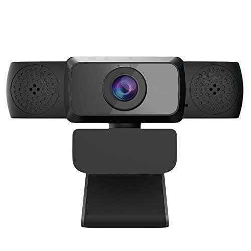 LSQJNDM Cámara para computadora HD 1080p - Micrófono Computadora portátil USB Cámara Web para PC con Soporte para trípode, Transmisión en Vivo de 360 Grados Grabación en Pantalla Ancha Pro Video