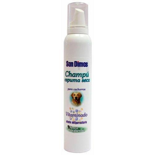 Champú vitaminado en espuma seca para perros cachorros 200 ml