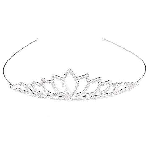 Couronne Cheveux Hoops Couronne De Mariage Mariée Élégante Filles Princesse Mariée Cristal De Diamant Diadème Bandeau Cheveux Bande