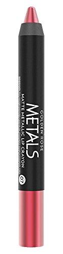 Golden Rose Matte Lipstick Crayon, Metallic Lip Pencil - 07 Hot Pink