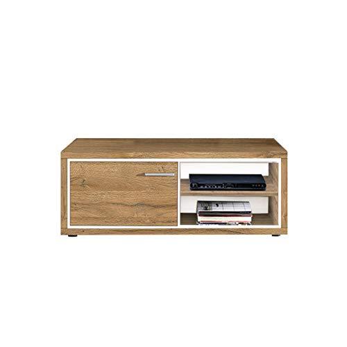 Newfurn TV Lowboard natuur TV kast TV tafel rek board II 116,2x45,2X 46,6 cm (BxHxD) II [Flynnnnnnnnnntwentysix] in Grandson donker eiken woonkamer slaapkamer