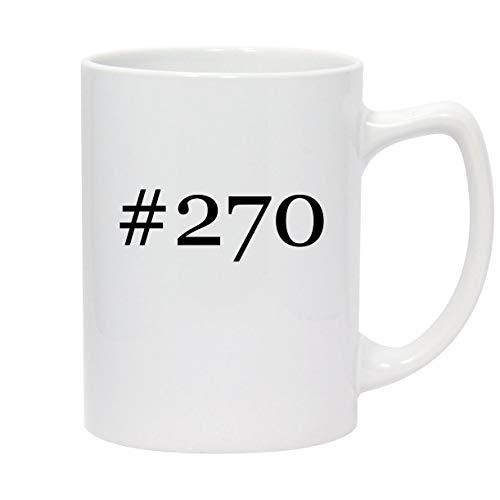 #270-14oz Hashtag White Ceramic Statesman Coffee Mug