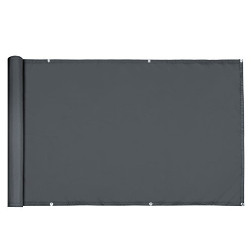 Paravent Brise vue - 500x90 cm - Brise vent Anti-Regards Clôture - anthracite