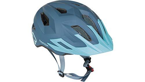 RennMaxe: Hamax Flow – blu/turchese – 52 – 57 cm – incl. cinghia di sicurezza – Casco da bicicletta per skateboard MTB BMX bambini ragazzi