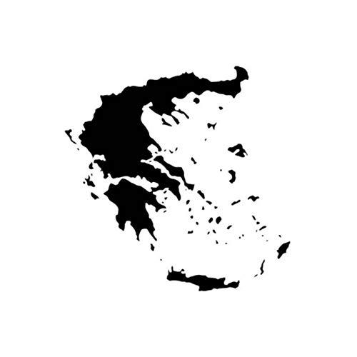 Auto sticker Griekenland kaart vinyl sticker voor ramen auto laptop koffer skateboard sticker 15x15 cm (5 stuks)