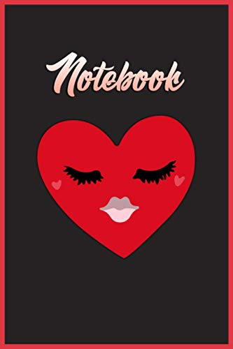 "Notebook. Red Heart Emoji. Kiss: Lined journal 6""x9\"" 