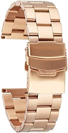 ZJSXIA 20 22mm Solid Stainless Steel Watch Rose B Popularity 100% quality warranty! Gold Band