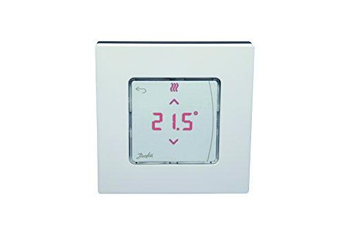 Danfoss 088u1015Raumthermostate Aufputz Icon Display Digital, 230V, für Fußbodenheizung Hydraulische und andere Anwendungen mit der Motoren, weiß