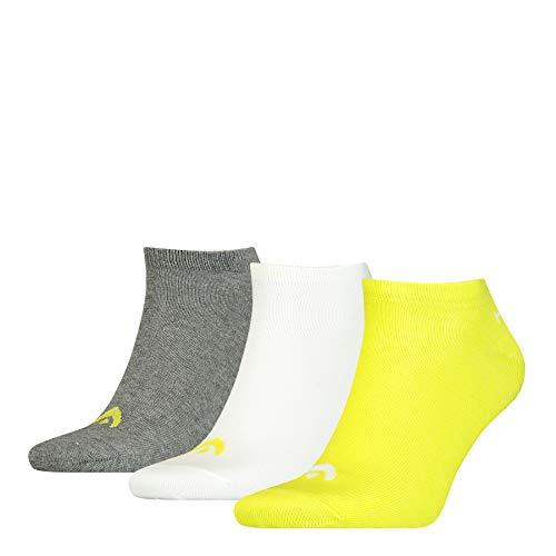 HEAD Unisex-Adult Sneaker-Trainer (3 Pack) Socks, Lime, 43/46