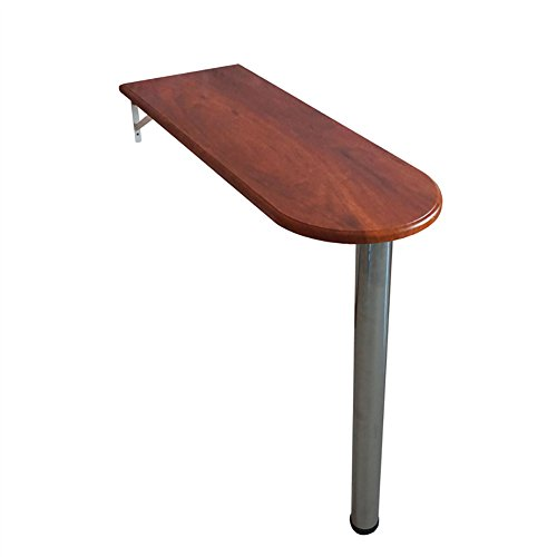 Table pliante Bois massif - table suspendue - bois - rectangulaire - cuisine et repas table de bar familiale - table haute (taille : 85 * 60cm)