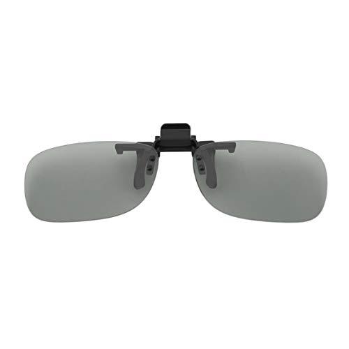Professionelle 3D Leichte Mann Frau Clip Auf Typ Passive Circular 3D Brille Clip Für 3D TV Movie Cinema-Grey