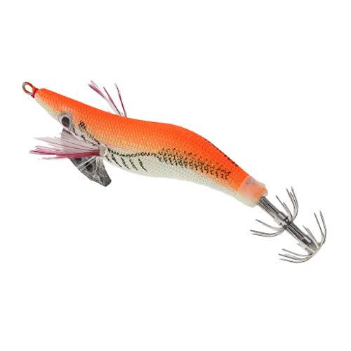 釣りルアーエビ餌イカジグタコ強力8cm全3色-オレンジ