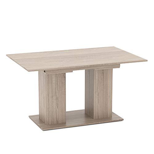 Vicco Esstisch DIX 90 x 140cm - 180 cm Esszimmertisch ausziehbar Küche Tisch (Sonoma Eiche)