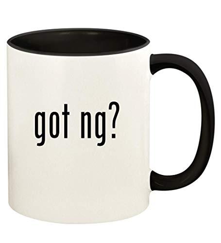 got ng? - 11oz Ceramic Colored Handle and Inside Coffee Mug Cup, Black