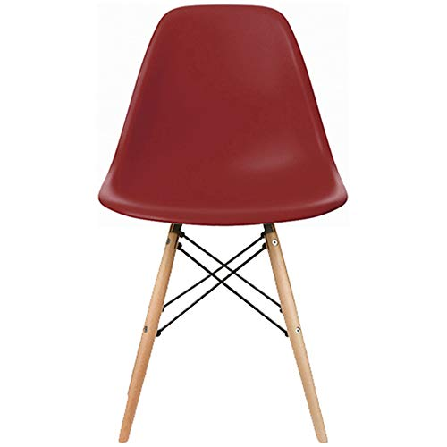 2xHome Eames Side(Red) Dining Chair