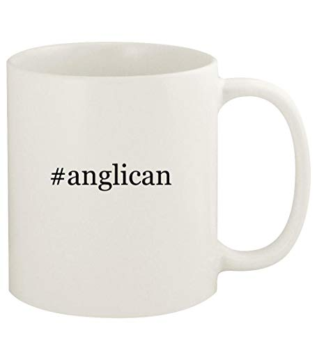 #anglican - 11oz Hashtag Ceramic White Coffee Mug Cup, White