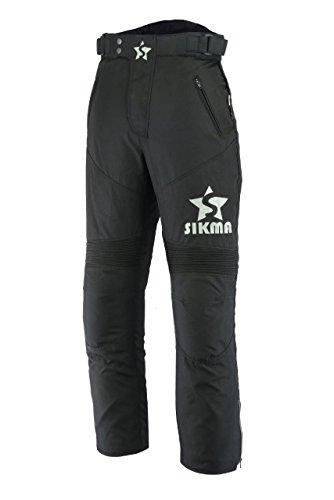 Sikma Cordura - Pantalones impermeables para motocicleta, para hombre, con armadura CE