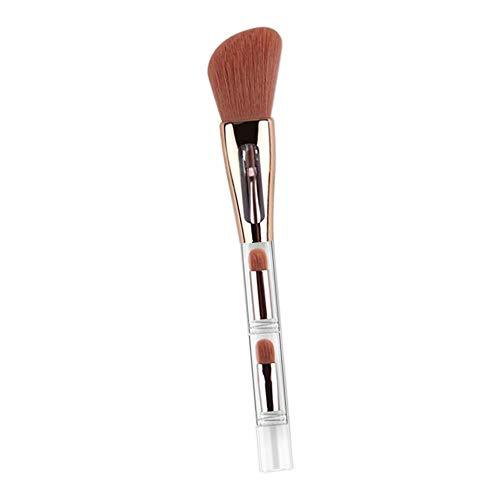 MERIGLARE Voyage Brosse De Maquillage Douce Portable 4 En 1 Brosse De Mélange De Poudre Liquide Pour Le Visage