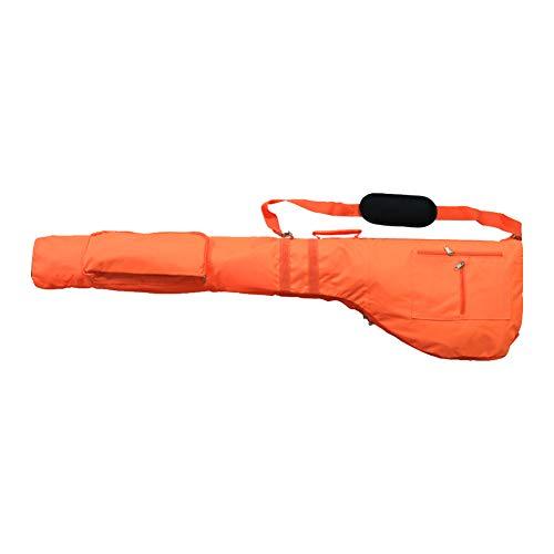 Golf-Schlägertasche, verstellbarer Riemen, Sport-Golftasche, Reise-Abdeckung, faltbar, Nylon, Golf-Zubehör, nicht null, Orange, Free Size