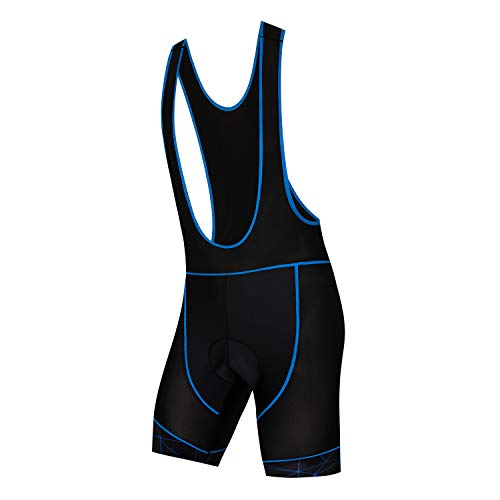 Weimostar Men's 3D Padded Cycling Bib Shorts Bike Compression Tights Breathable Black Blue Size XL
