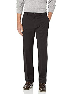 Dockers Men's Classic Fit Easy Khaki Pants D3, Black (Stretch), 38 34 by Dockers Men's Bottoms
