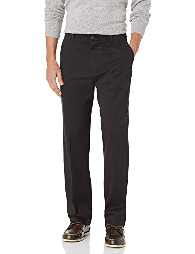 Dockers Men's Classic Fit Easy Khaki Pants D3, Black (Stretch), 38 30