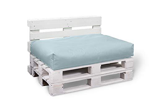 BuBiBag Palettenkissen Sitzkissen Sitzauflage Sitzfläche für In & Outdoor Größe & Farbe auswählbar (120x80x15 cm, grau)