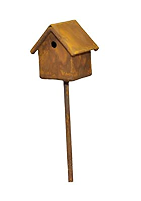 G & F Products MiniGardenn 10020 Fairy Garden Miniature Bird House Pick