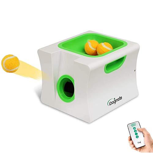 iDogmate Lanzador de bolas automático pequeño, lanzador de bolas para perros, máquina de lanzamiento de bolas para perros pequeños (mini bolas de 1.75 pulgadas)