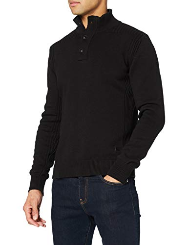 Schott NYC Milford9 Pull, Noir (Black), XX-Large (Taille fabricant: XXL) Homme
