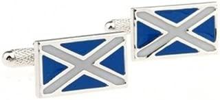 Quality Handcrafts Guaranteed Scottish Flag Cufflinks