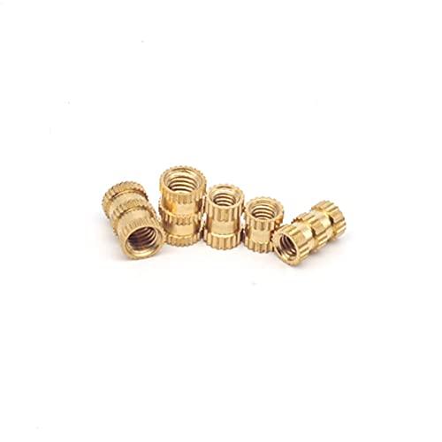 Nut Insert 430Pcs M2 M3 M4 M5 Brass Threaded Insert Nuts Set Double Knurled Inject Nuts Kit Copper Thread Bushing Screw Inserts Repair kit 3D Printer Parts Plastic Parts (Color : 430pcs Kit Set)