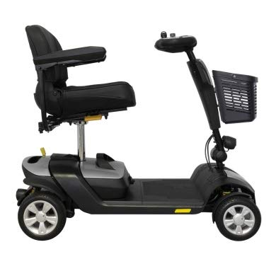 INTERMED Scooter Elettrico SC-100 Color - Bianco - Scooter Elettrico per disabili e Anziani con Quattro ammortizzatori - Ripiegabile - Conforme normativa CE