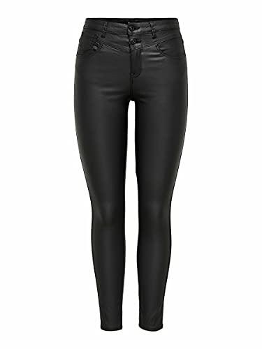 ONLY Damen ONLCHRISSY Life HW SK COA ANK BB PIM2600 Jeans, Black, 32 (Large)