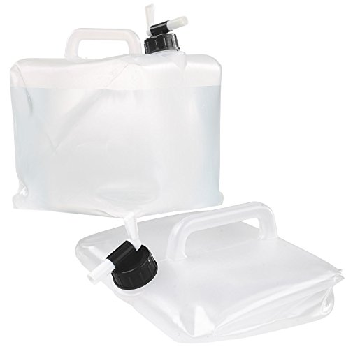 Semptec Urban Survival Technology Trinkwasserkanister: Faltbarer Wasserkanister mit Zapfhahn, 10 Liter, ideal für Trinkwasser (Kanister für Trinkwasser)