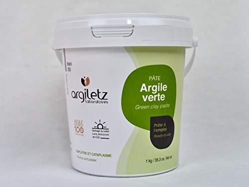 ARGILETZ Pot d'argile verte 1kg prête à l'emploi - ARCILIA -