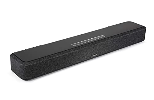 Denon Home 550 Compact Sound Bar for TV, Bluetooth Soundbar for Surround Sound System, Dolby Atmos & DTS:X, Dolby Vision, HEOS Built-In, WiFi, Airplay 2, eARC - Black (Renewed)