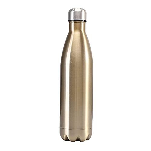 Xiaobing Frasco de vacío de Acero Inoxidable, Taza de Agua para Deportes al Aire Libre, Botella de Agua de Moda de Color Puro -C042-1000ML